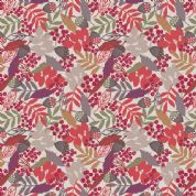 Lewis & Irene Autumn Fields - 4225 - Multicoloured Fallen Leaves on Linen - A113.2 - Cotton Fabric